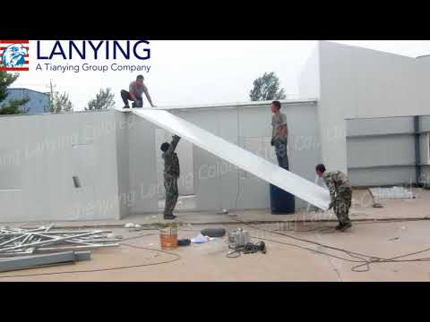 EPS panel prefabricated house installation demo