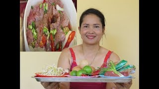 Wow Fresh Gerl Cooking Beef With Ramen Recipe New   Village Food Factory