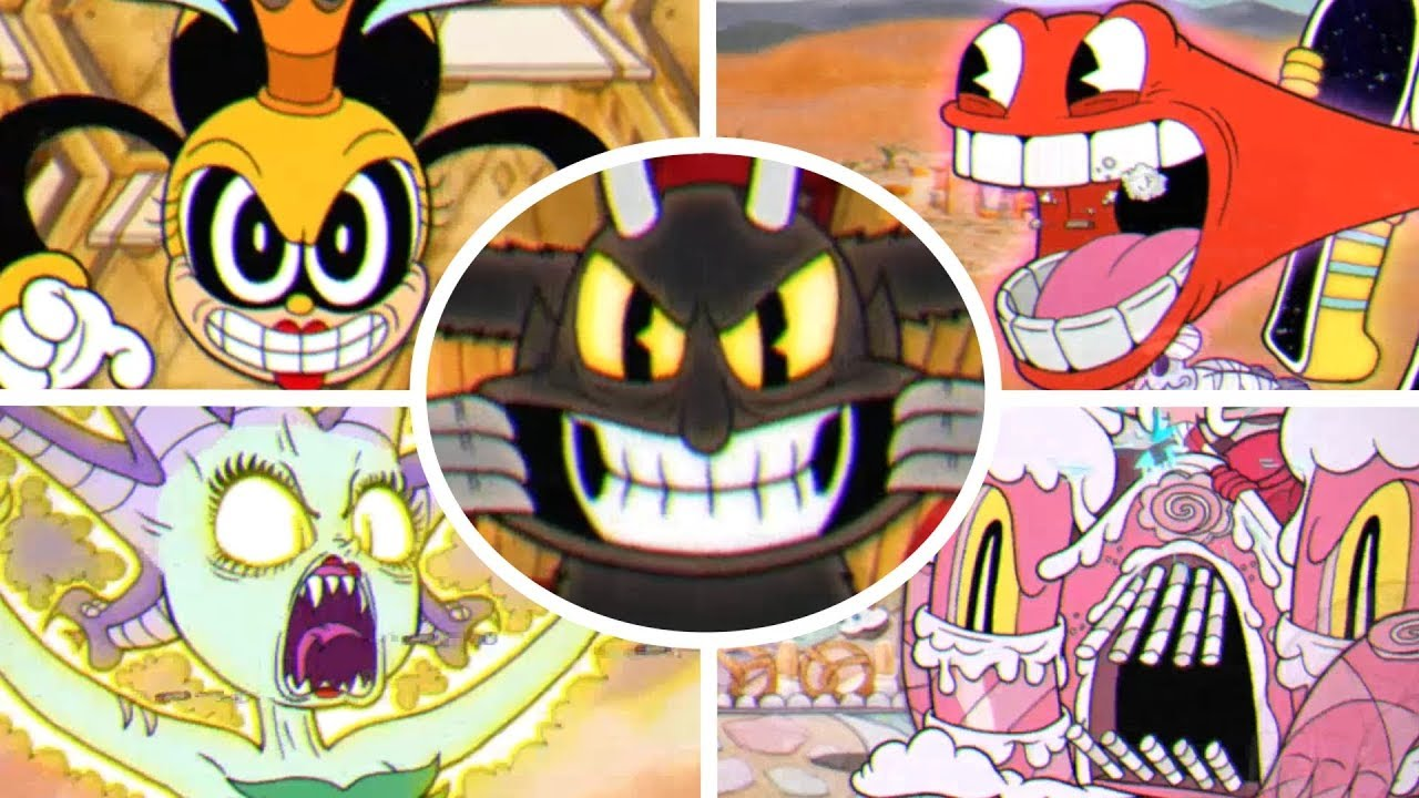 Cuphead - All Boss Transformations Animations
