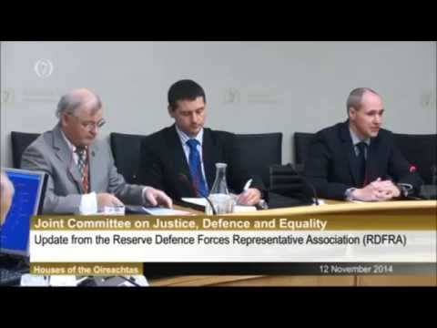 12 Nov 2014 - RDFRA Presenting to the Oireachtas Committee on Justice, Defence and Equality