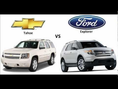 chevrolet tahoe 2013 vs ford explorer 2013 youtube. Black Bedroom Furniture Sets. Home Design Ideas