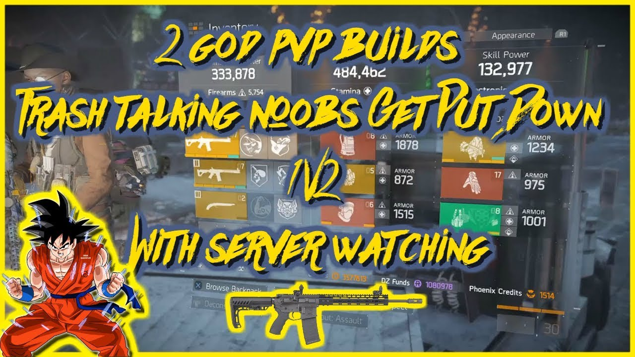 2 God PVP Builds(Trash Talking Noobs Get Put Down 1v2 With Server  Watching)|The Division|