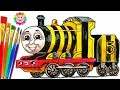 How to DRAW Thomas and Friends Coloring Pages JAMES - Train Video for Children