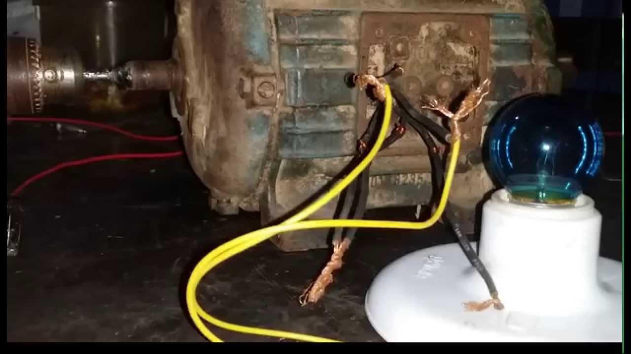 abda1ae5fdb Aprendendo Motor elétrico de indução gerando energia - YouTube