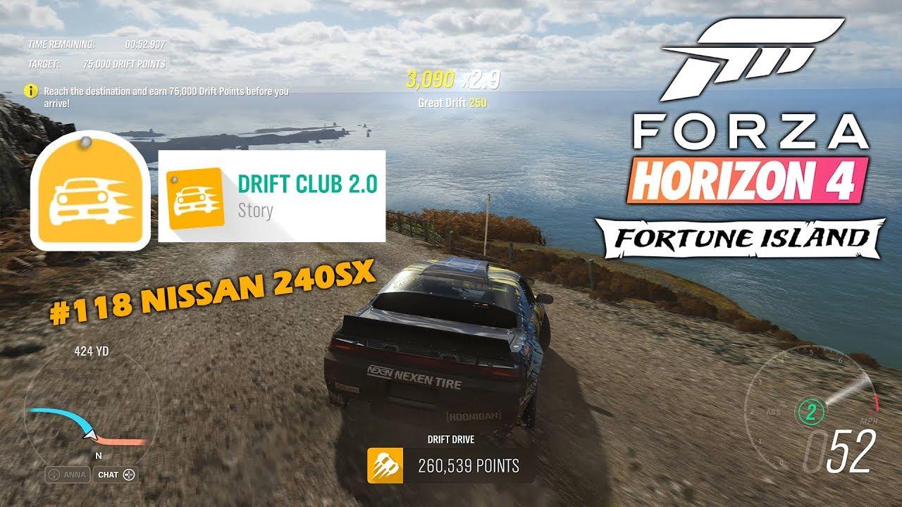 Forza Horizon 4 Fortune Island DRIFT CLUB 2 0 ALL CHAPTERS 3