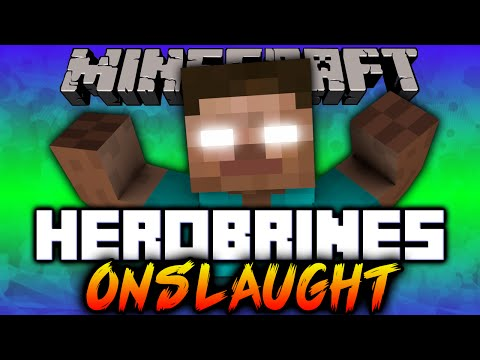 Minecraft HEROBRINE'S ONSLAUGHT CHALLENGE with Vikkstar123 & Lachlan (Minecraft Wave Survival)
