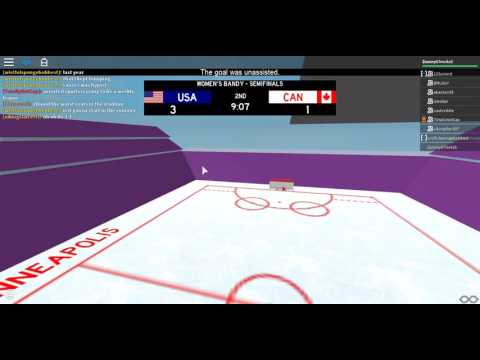 USA vs  Canada women's bandy semifinal