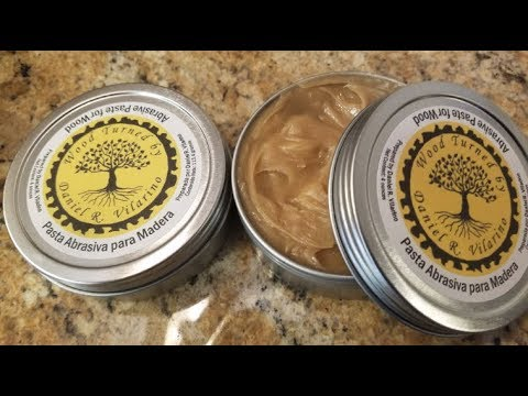 Homemade Abrasive Paste for Woodturners, Formula and Preparation