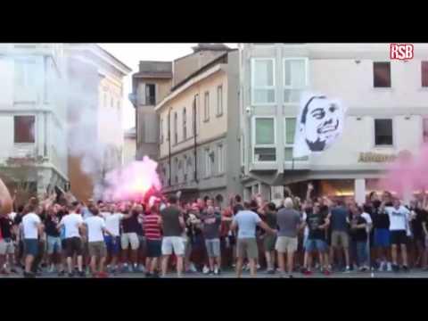 Delije u Reggio Emilia | UEFA MAFIA KOSOVO JE SRBIJA!
