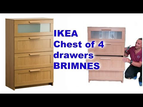 IKEA Chest of 4 drawers BRIMNES Assembly