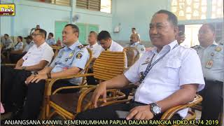 KANWIL KEMENKUMHAM PAPUA BERBAGI KASIH DI MOMENT HDKD KE 74 2019, SAKSIKAN SELENGKAPNYA