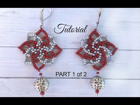 How to make seed bead earrings - twist stitch tutorial (part 1)