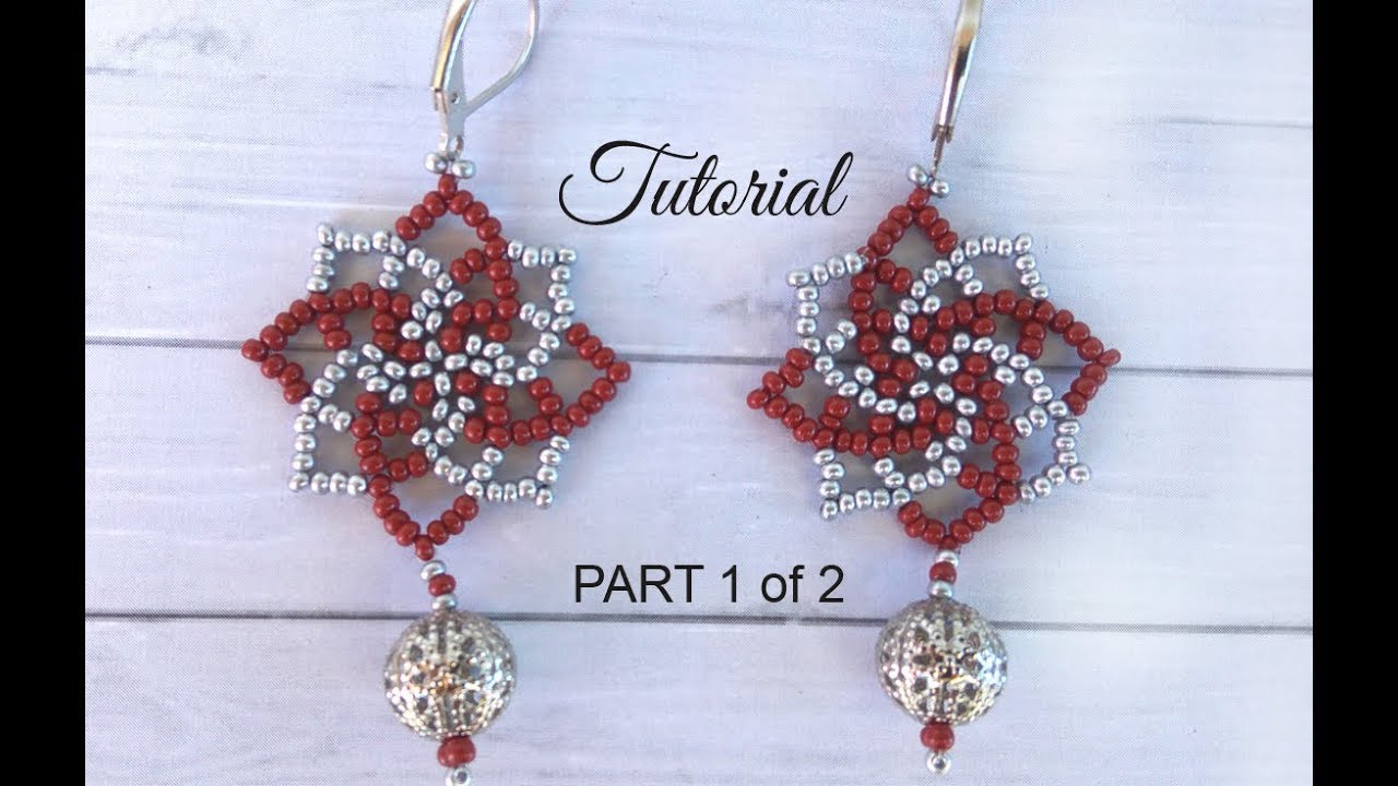 How To Make Seed Bead Earrings Twist Sch Tutorial Part 1