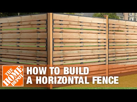 How To Build A Horizontal Fence | The Home Depot   YouTube