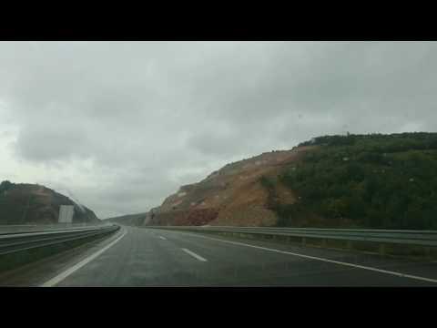 Kosovo highway in the rain!