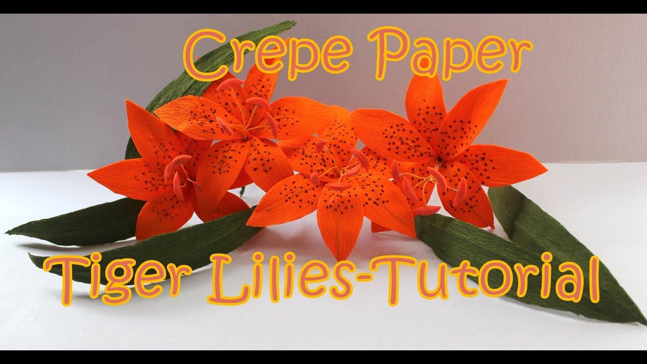 DIY Crepe Paper Tiger Lily