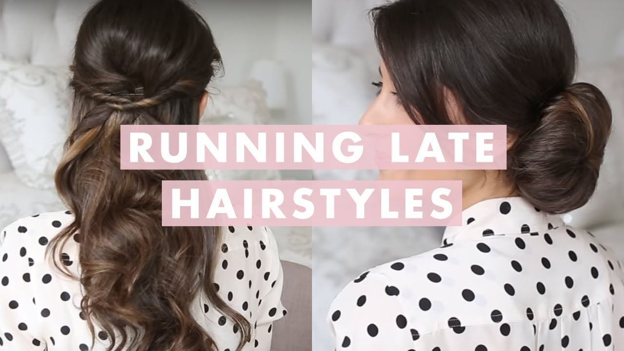 how to style your hair for work running late hairstyles 6179