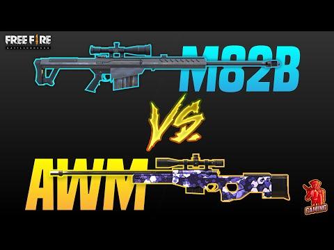 M82B Vs AWM | Best sniper  in Freefire Battlegrounds 2020? | Pri Gaming