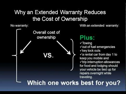 Reduce Ownership Cost with an Extended Warranty