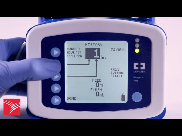 Using the History feature of the Kangaroo™ Joey Enteral Feeding Pump