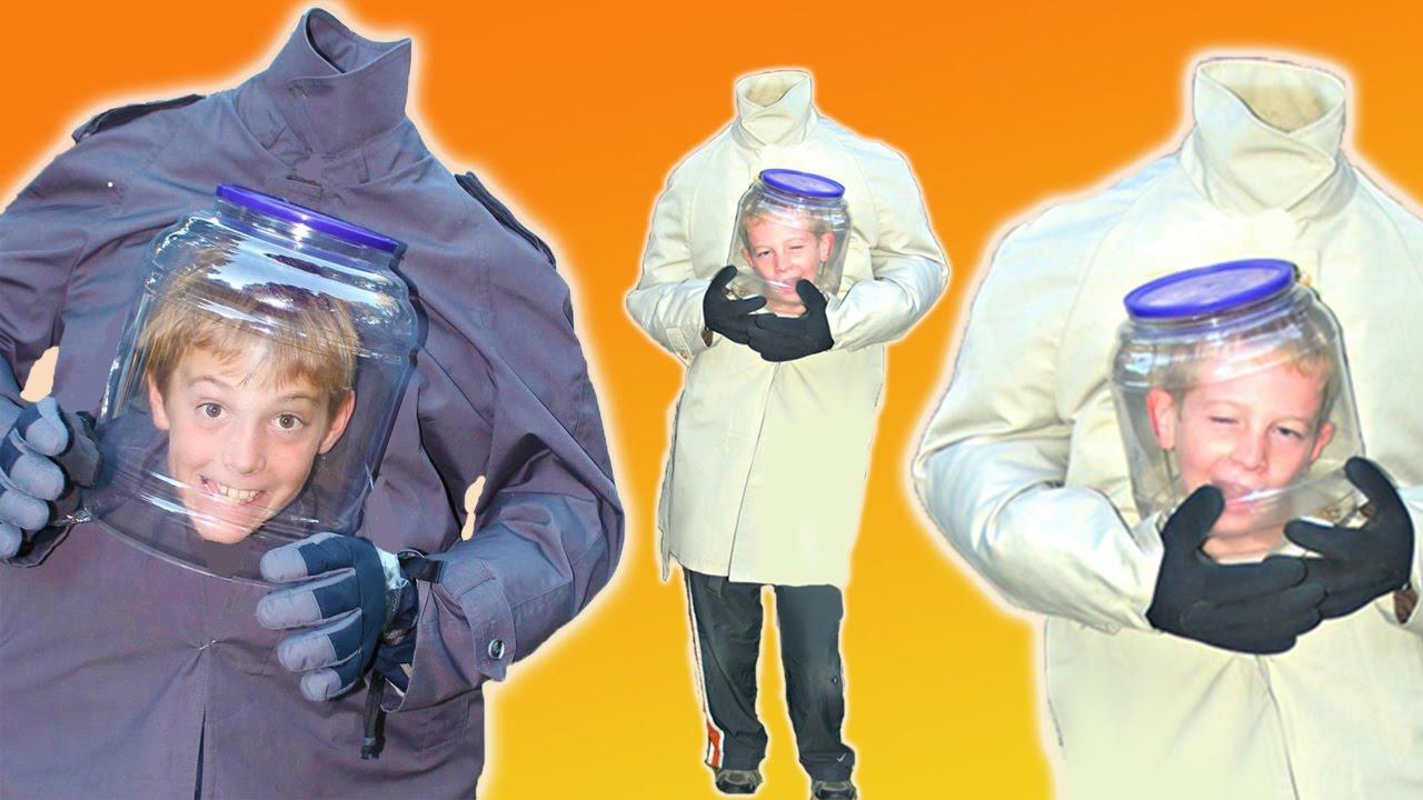 DIY Headless Halloween Costume | 2017 How To Make Best Homemade Jar Head Costume  sc 1 st  YouTube & DIY Headless Halloween Costume | 2017 How To Make Best Homemade Jar ...
