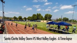Santa Clarita Valley Storm VS West Valley Eagles - A Time-lapse - April 12, 2014