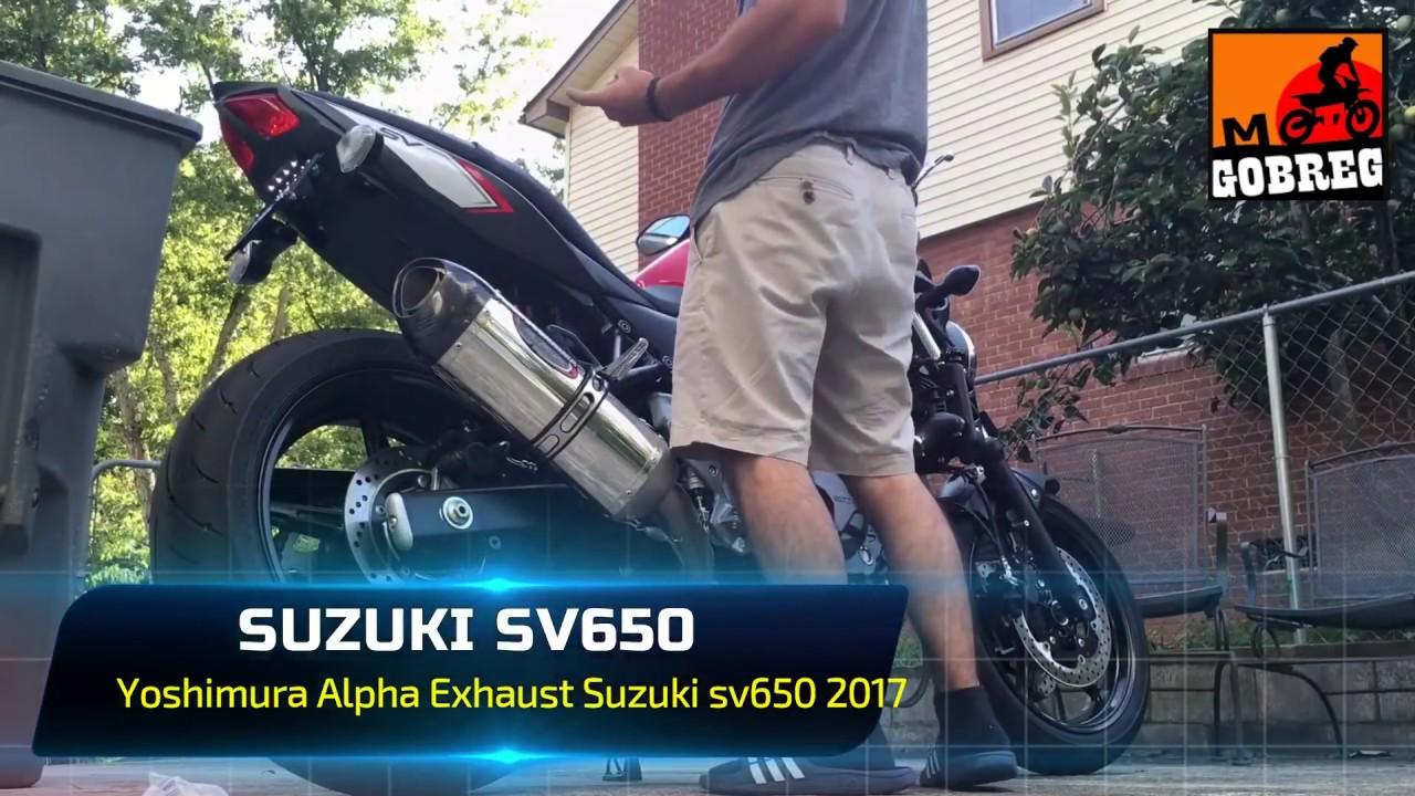 suzuki sv650 top full 15 exhaust sound holeshot laser gpr akrapovic stock exhaust