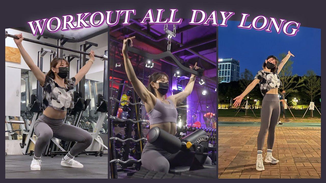 다시는 하루에 운동 3번한다고 까불지 않겠습니다.. | 크로스핏, 파워리프팅, 러닝 workout all day long