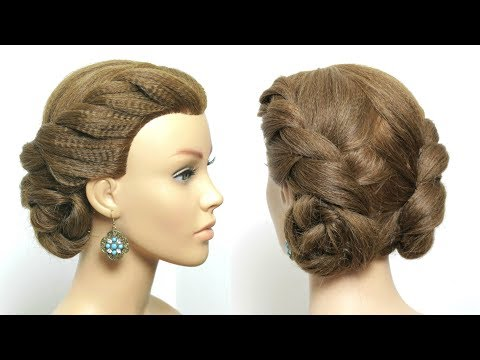Double Twist Low Buns For Long Hair