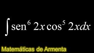 integral de potencias de senos y cosenos ejemplo 1