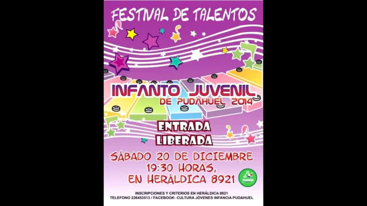 Invitación Festival De Talentos Infantiles Youtube