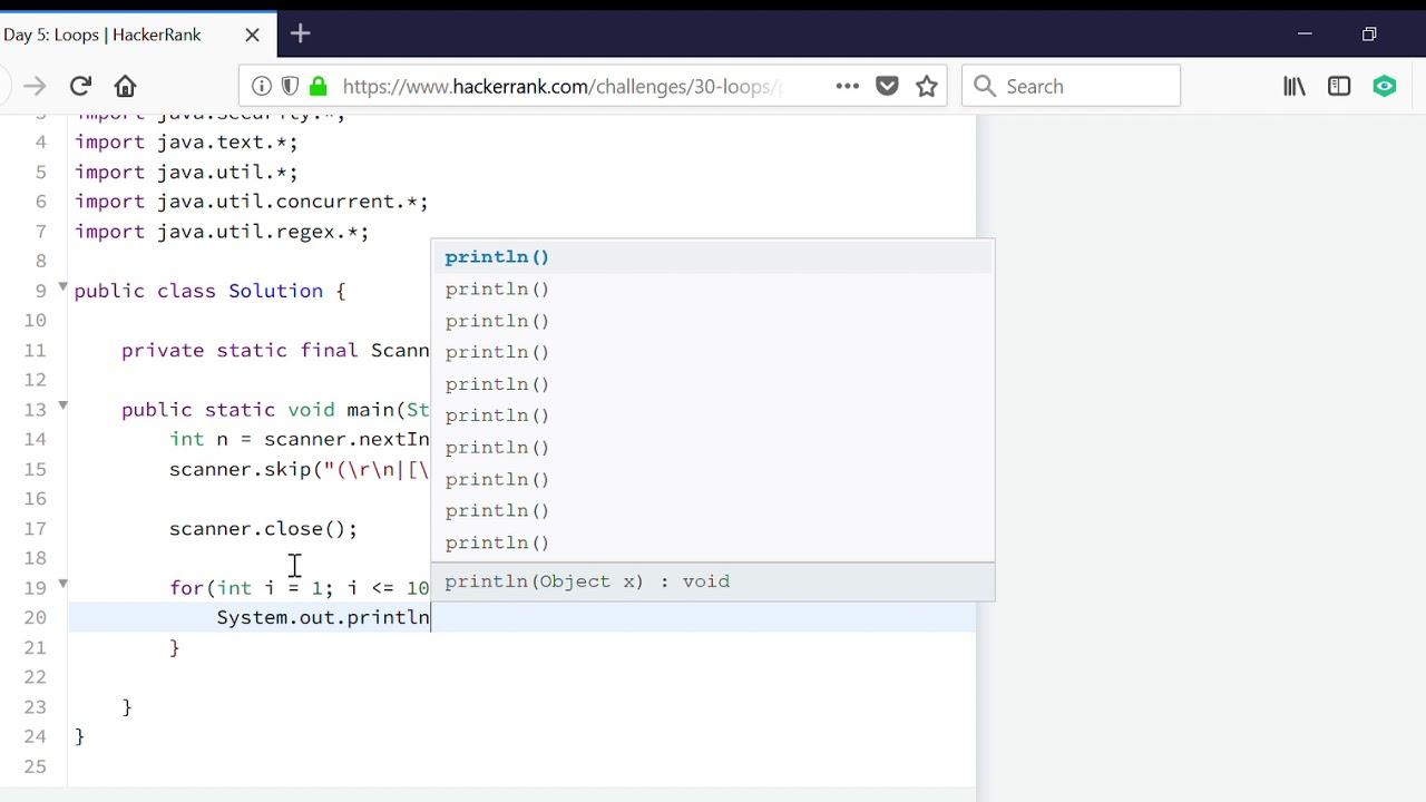 Day 5: Loops | HackerRank | JAVA