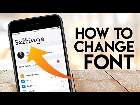 How To Change IPhone Font Style IOS 12