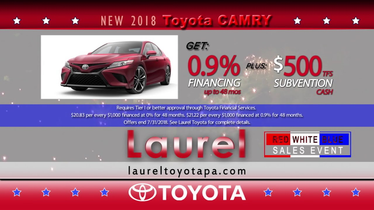 Red White And Blue Auto Sales >> Laurel Toyota Red White Blue Sales Event