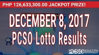 PCSO Lotto Results Today December 8, 2017 (6/58, 6/45, 4D, Swertres, STL & EZ2)