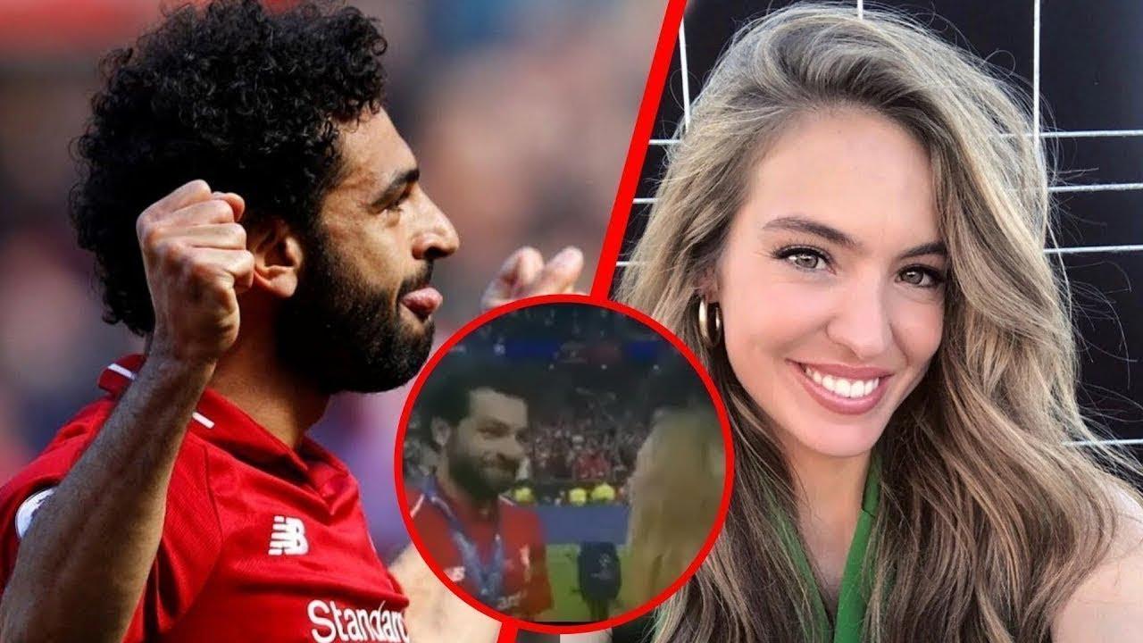 هذه الفتاة المذيعة حاولت تقبيل محمد صلاح.. شاهد ماذا فعل معها !!