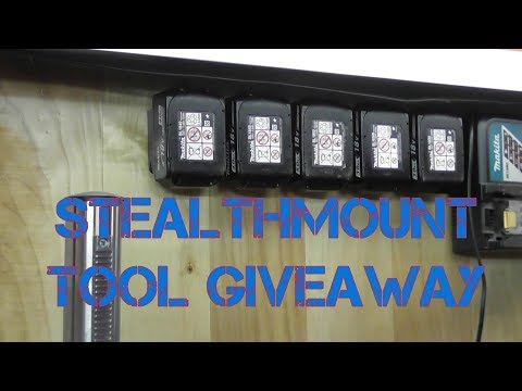 Makita StealthMounts | Makita battery storage system
