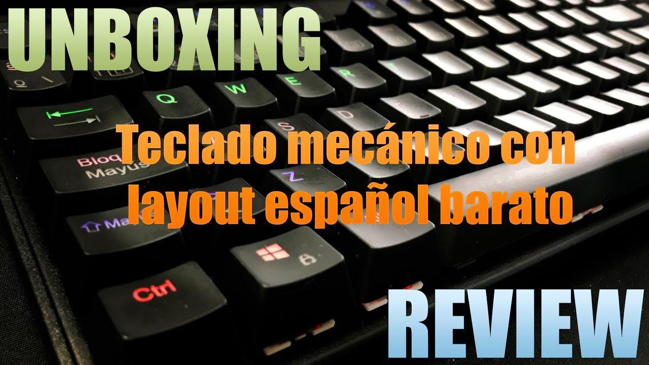 Unboxing y Review - VicTsing - Teclado mecánico español barato - Vídeo 4K