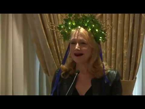 Patricia Clarkson helps kick off Mardi Gras 2019 for the Krewe of Muses!