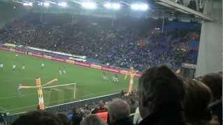 Vitesse - FC Groningen 2-0 17-02-2013: Ontlading goal Mike Havenaar