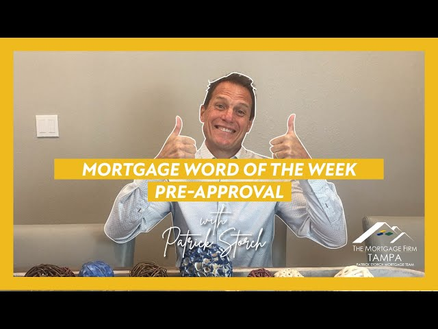 MORTGAGE WORD OF THE WEEK 📚 Pre-Approval