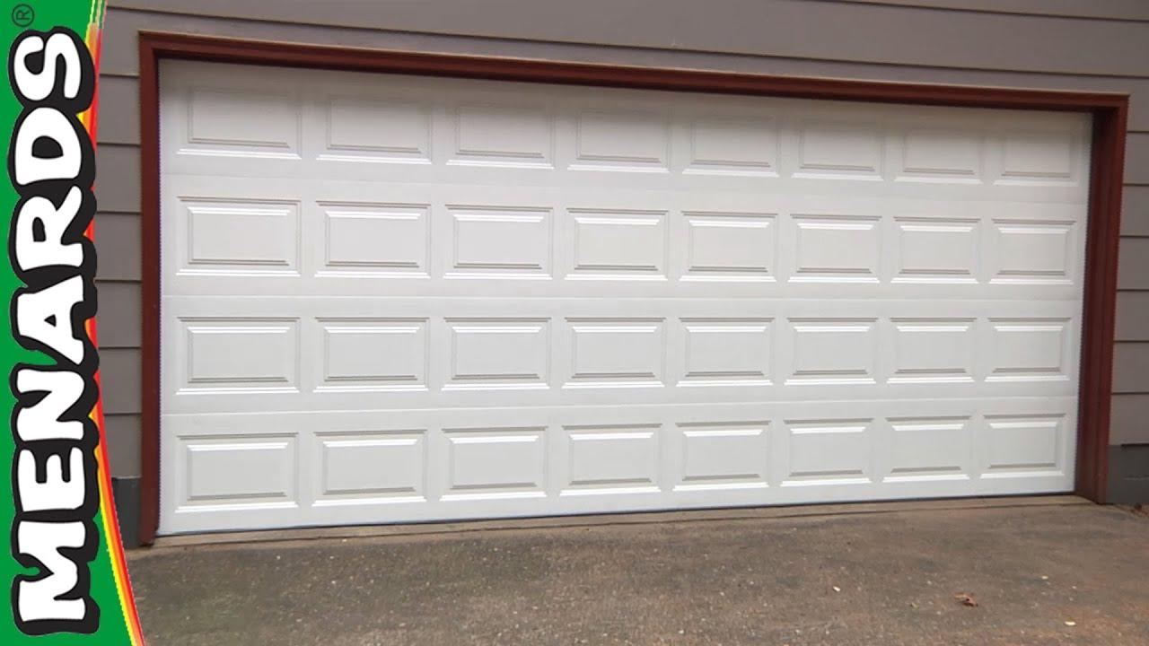 hight resolution of garage door how to install menards