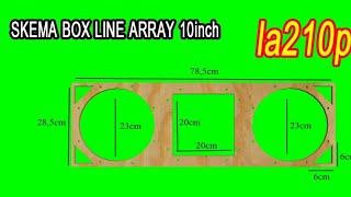 Skema box speaker line array la210p