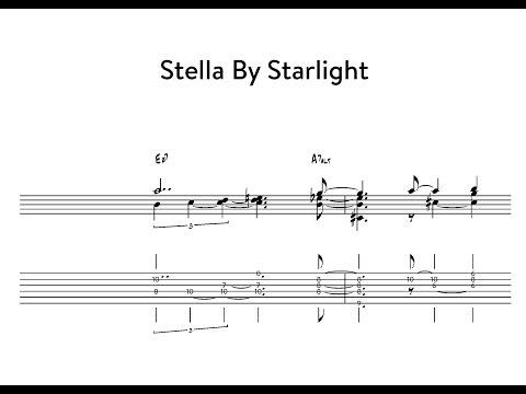 Jazz Guitar Minute Study #1: Stella By Starlight - Chord Melody