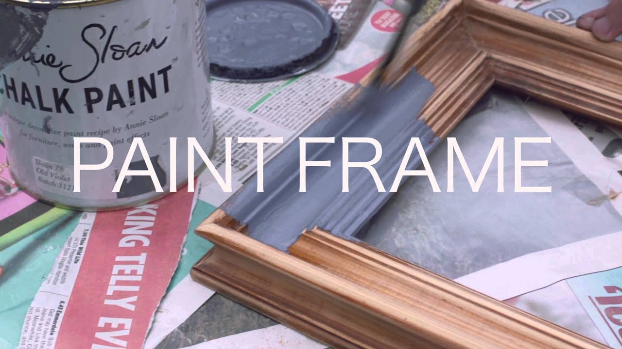 How To Make A Shabby Chic Frame Youtube