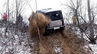 Рвём УАЗам полуоси. Испытываем лебёдку. Нивы, УАЗы, Jeep Cherokee.