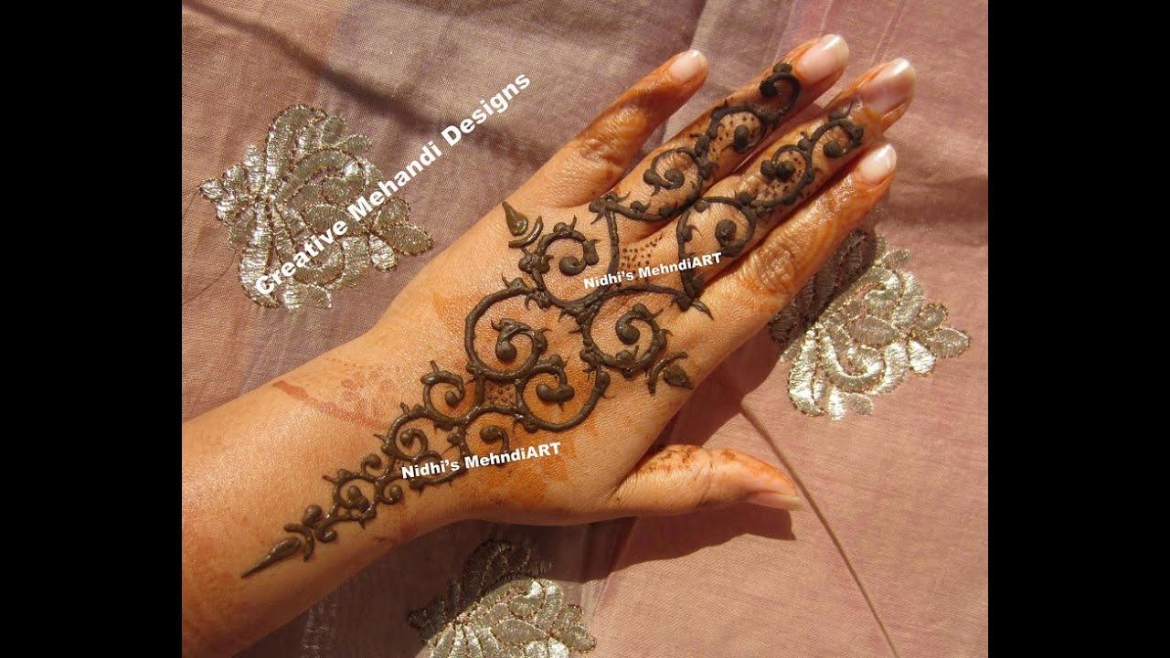 Mehndi Henna Tips : Popular dubai style gulf henna mehndi design tutorial