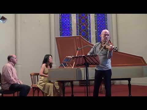 Bach violin harpsichord sonata, movement I, BWV1016 Gilles Colliard, violin, Heidi Tsai, harpsichord