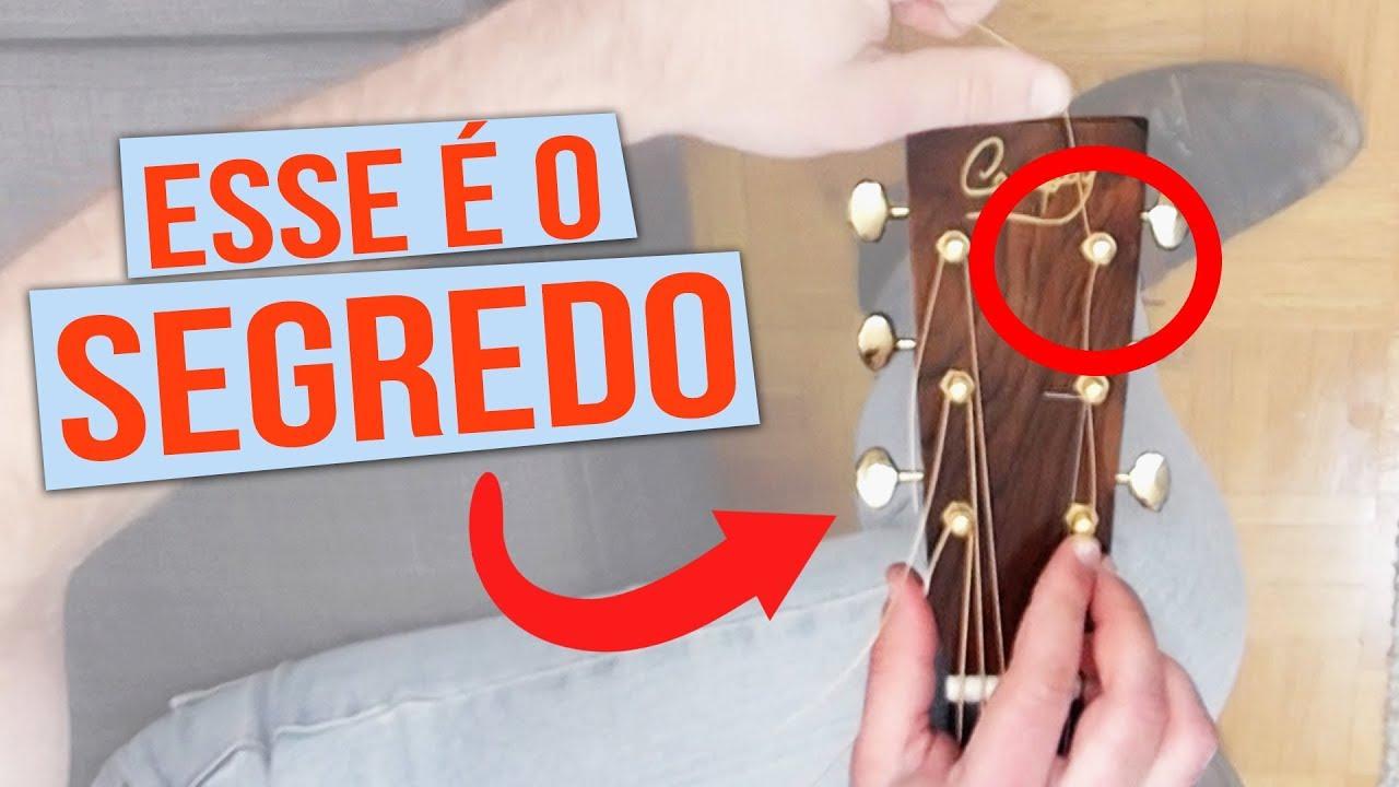 SEGREDO para o violão NÃO DESAFINAR! (para cordas de aço)
