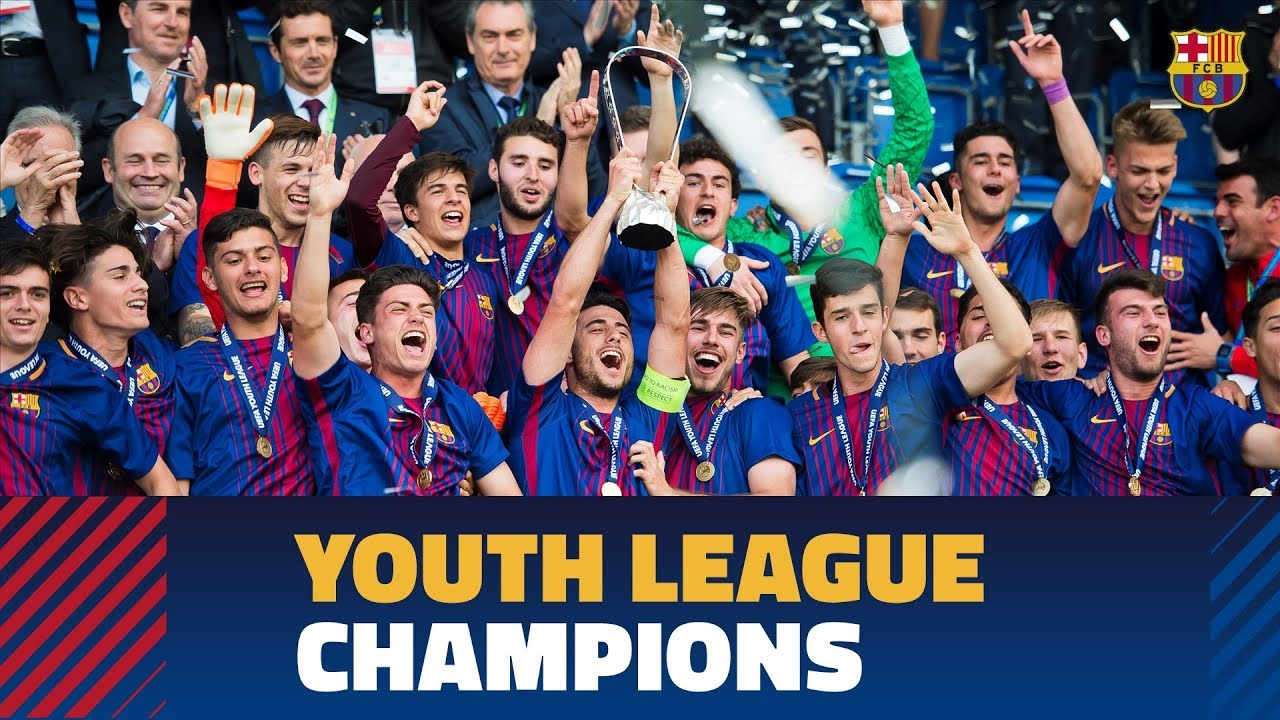Image result for Barcelona beat Chelsea 3-0 to win UEFA Youth League – Highlights